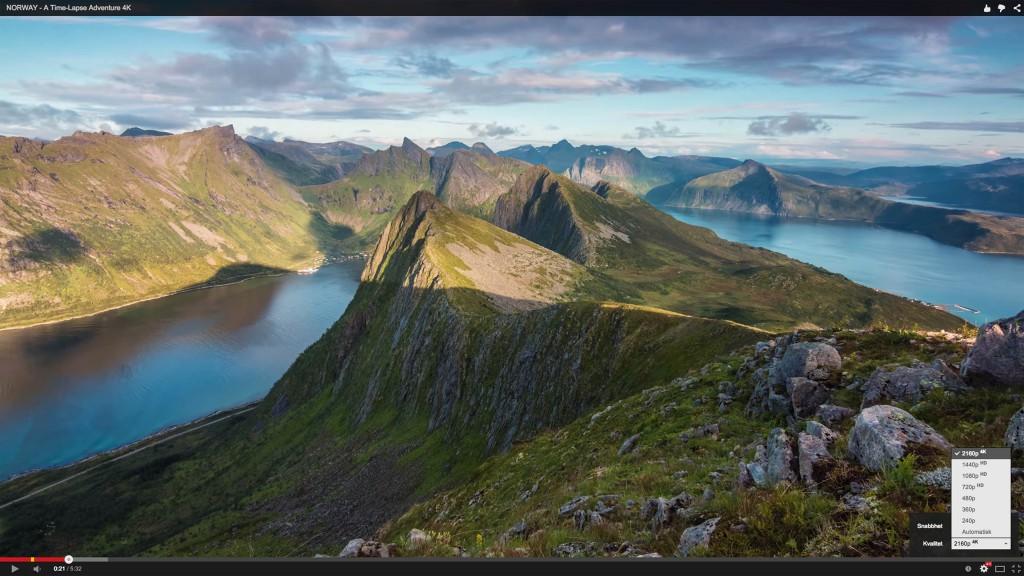 4K-film om Norge på Youtube. Klicka för att zooma in i bilden.