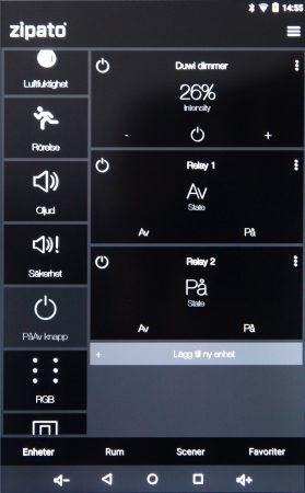 Du kan styra dina enheter direkt på Zipatile, via en app eller webbläsare.