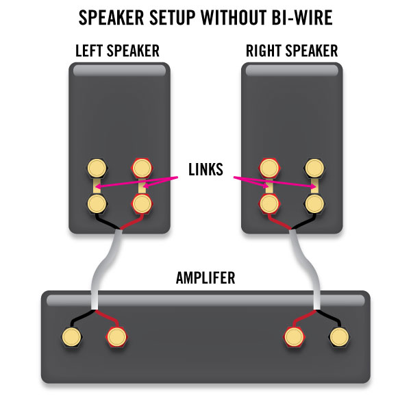 Bi-amp innebär att man matar en högtalare med fler förstärkarsteg och separerar dessa med delningsfilter.