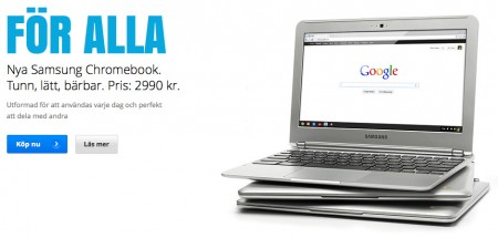 Chromebook - bärbara datorer med Chrome OS.