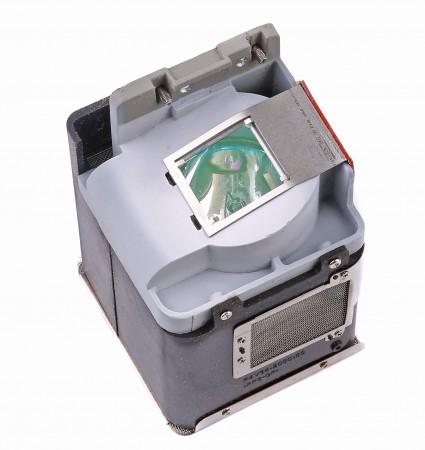 Lampan sitter monterad i en kassett som skyddar lampan och gör det enkelt att byta. Det går även att köpa lösa lampor, men kan då vara svårare att byta. Om du vill se hur det ser ut i din projektor kan du plocka ur kassetten och se om det verkar enklare att byta lampa innan du beställer en ny lampa med eller utan kassett.