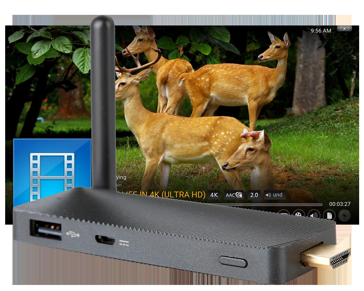 Mele PCG01 är en fläktlös Windows-dator med hdmi-anslutning som gör att den kan direktanslutas till en tv eller hemmabioreceiver och agera mediespelare.