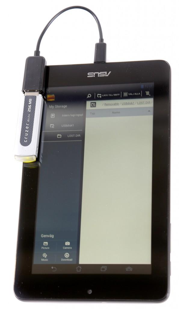 Med OTG i surfplattan kan du även ansluta andra usb-enheter.
