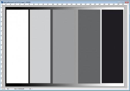 Ett eget gråkort är enkelt att skapa och kan skrivas ut med en svartvit laserskrivare.